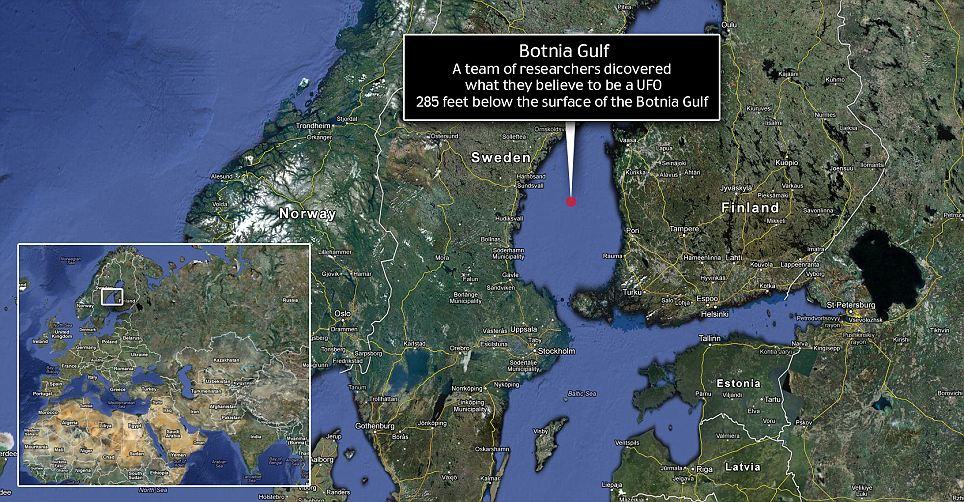 UFO Ufology Baltic UFO Anomaly By Ocean X Team - Sweden map coordinates