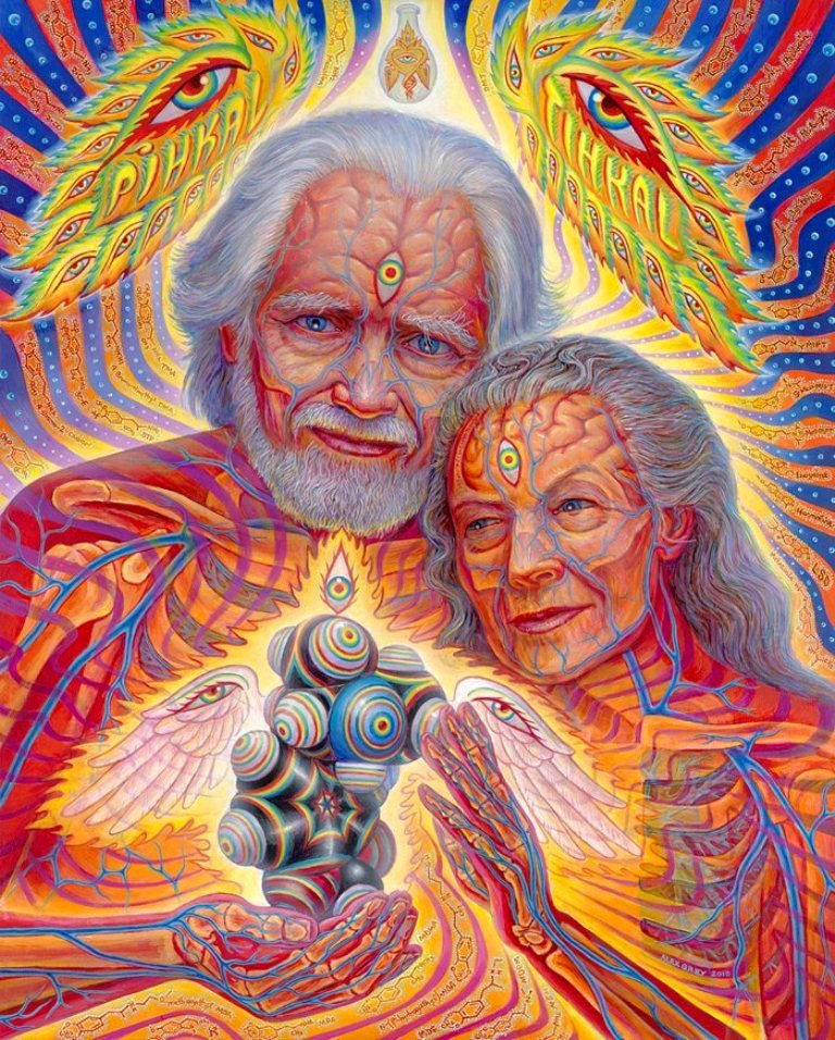 Visionary art gallery exhibitions l tom sos m v szeti for Alex grey coloring pages